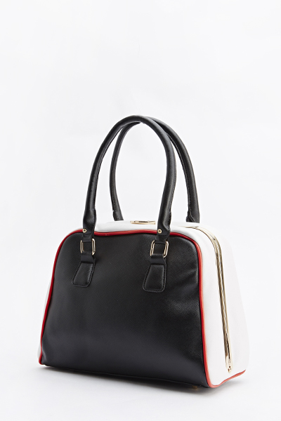 Colour Block Bowler Bag