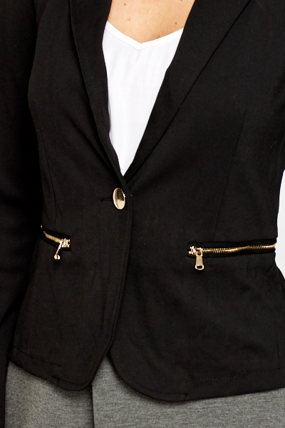 Gold Button Lightweight Blazer