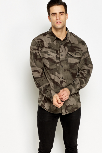 Camouflage Fleece Shirt