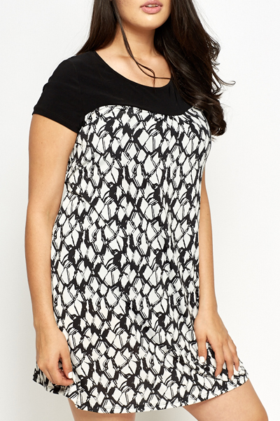 Geo Printed Shift Dress