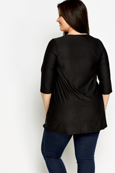 Mock Crock Black Tunic