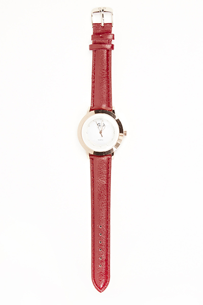 Woman Slim Faux Leather Watch