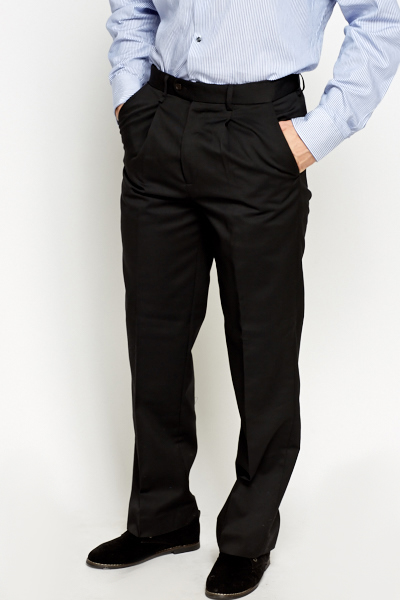 Wool Blend Formal Trousers