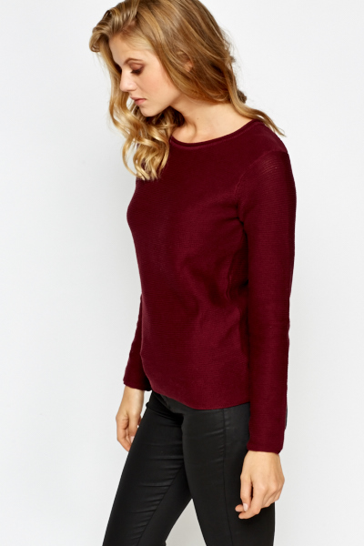 Fine Knit Round Neck Sweater