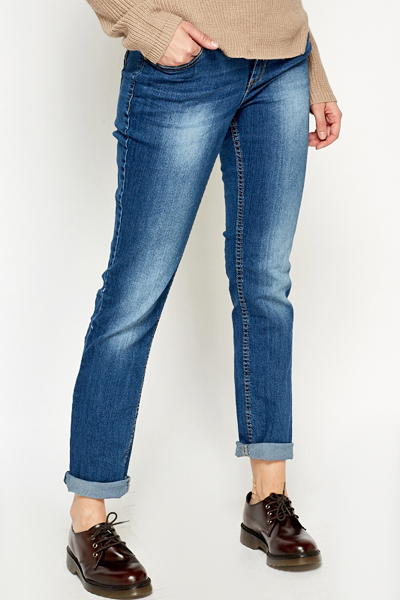 Wash Out Straight Leg Jeans