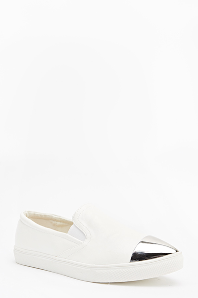 Contrast Toe Pointed Plimsolls