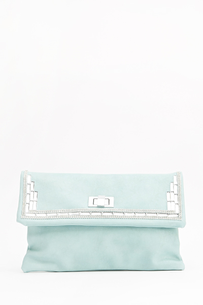 Encrusted Twist Clip Clutch Bag