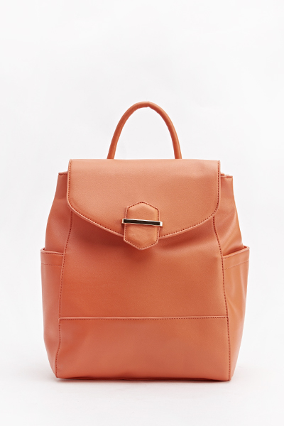 Flap Front Orange Rucksack