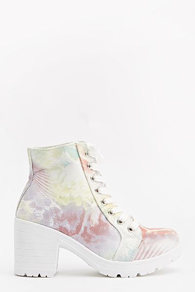 animal print heeled boots