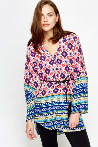 Belted Aztec Tunic