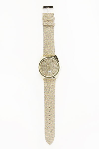 Dial Printed Strap Watch