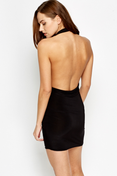 halterneck open back dress just 1635