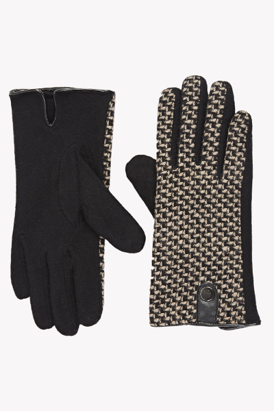 Contrast Tweed Gloves