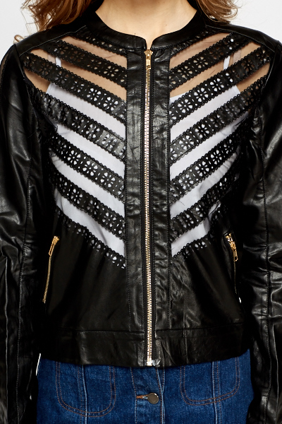Laser Cut PU Jacket