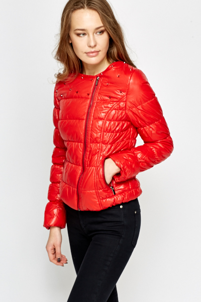 Studded Puff Winter Jacket