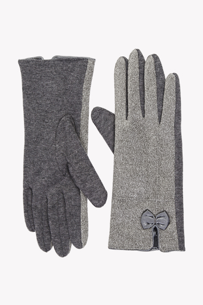 Suedette Bow Front Gloves