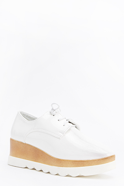 Chunky Contrast Lace Up Shoes
