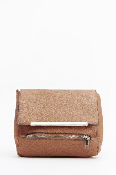 Faux Leather Textured Crossbody