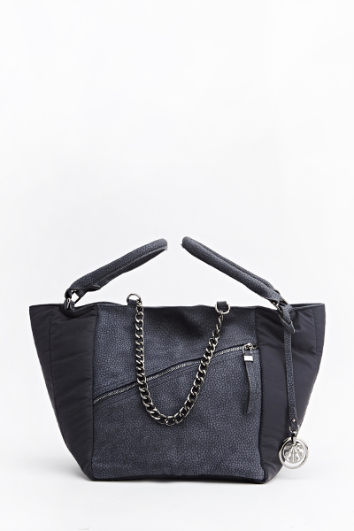 Quilted Side Tote Bag
