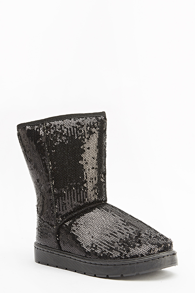 Sequin Embellished Boots