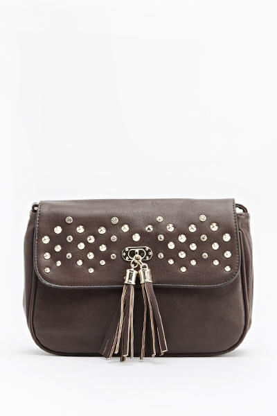 Studded Tassel Front Bag