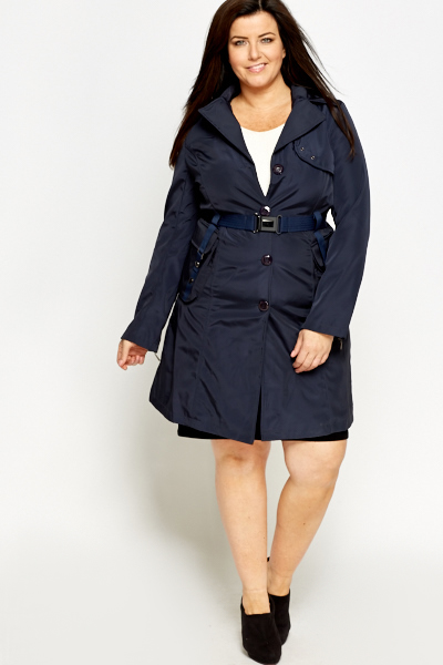 Belted Waterproof Trench Jacket