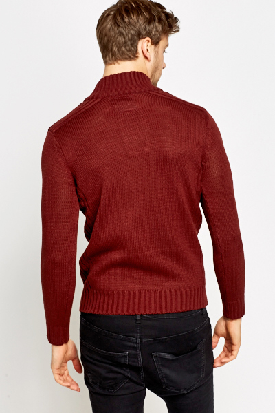 Brick Button Neck Jumper