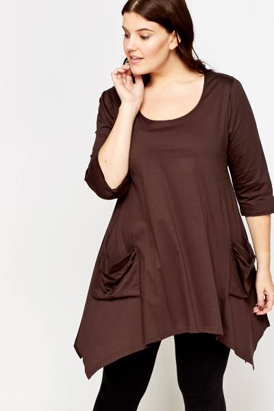 Chocolate Pocket Front Tunic