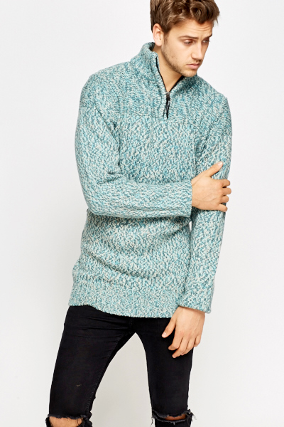 Chunky Contrast Knit Jumper