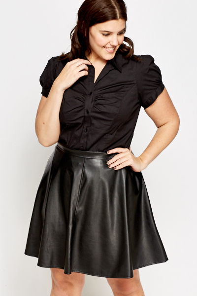 Faux Leather Swing Skirt - Just £5