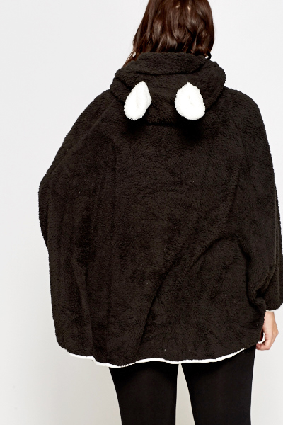 Fleece Bear Ears Zip Up Jacket