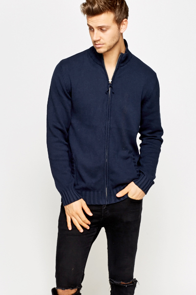 High Neck Zip Up Jumper