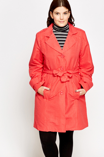 Red Polka Dot Mac Jacket