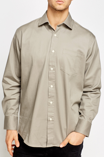 Thick Grey Cotton Shirt