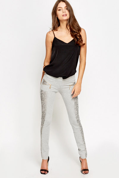 Lace Panel Side Treggings