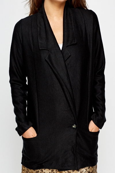 Long Button Front Blazer