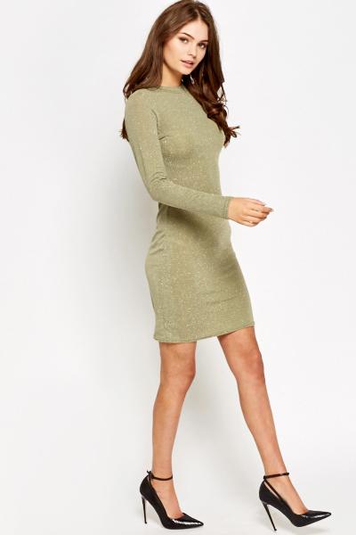 d62258067111 Metallic Long Sleeve Bodycon Dress - Just £5