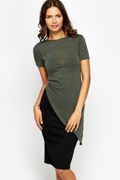 Asymmetric Ruffle Side Top