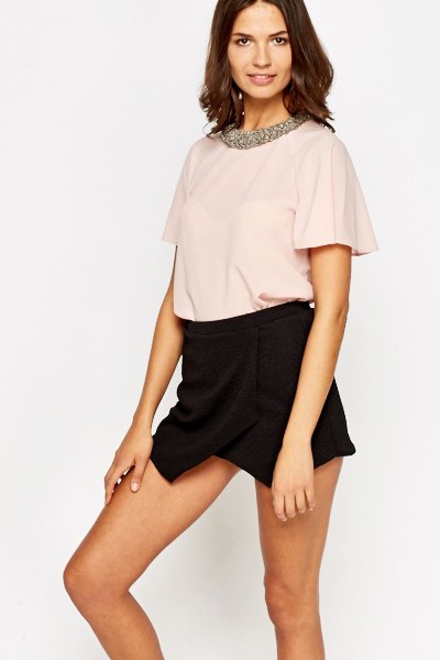 Flared Sleeves Light Pink Blouse