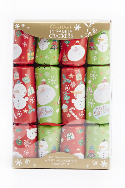 12 Family Christmas Crackers