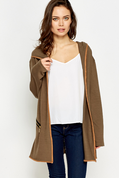 Casual Long Hooded Cardigan