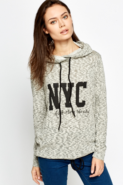 NYC Speckled Hooded Jumper