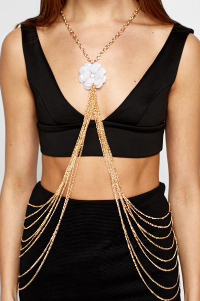 3D Floral Layered Bodychain