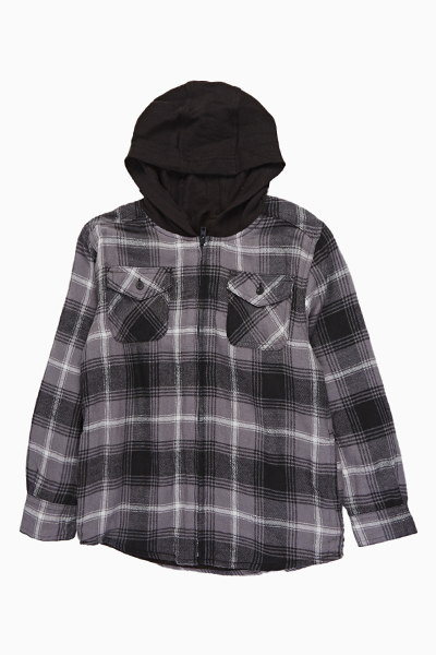 Ash Checked Hooded Jacket