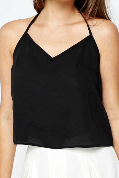 Black Halterneck Top