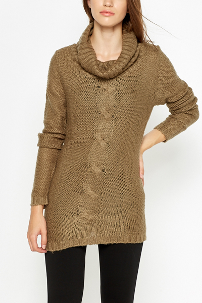 Cable Knitted Panel Jumper