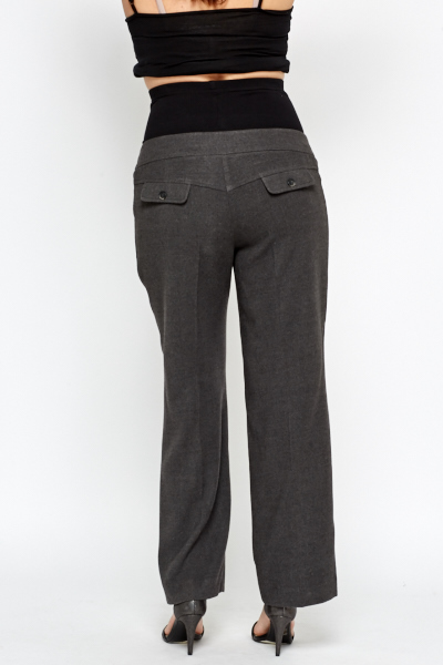 d6741b4ca6228 Charcoal Formal Maternity Trousers - Just £5
