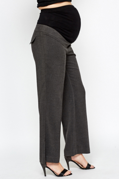 Charcoal Formal Maternity Trousers