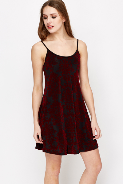 Contrast Jacquard Swing Dress