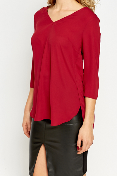 Criss Cross Back Blouse